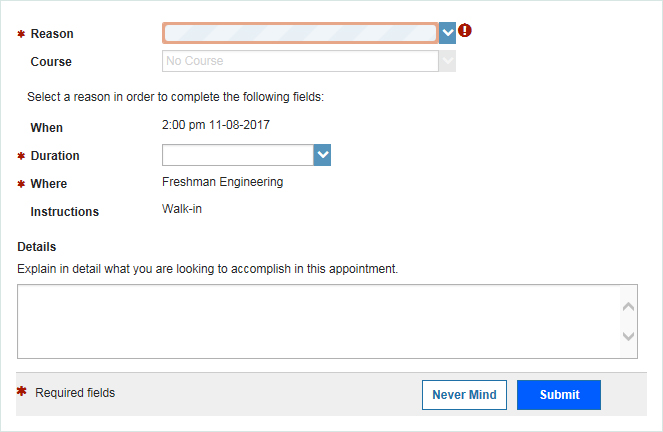 add appointment-pop up